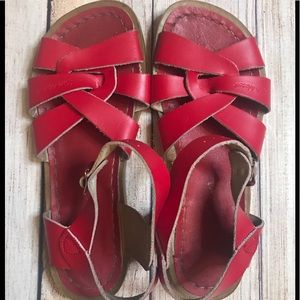 Salt-Water Sandals By Hoy Red Size 4